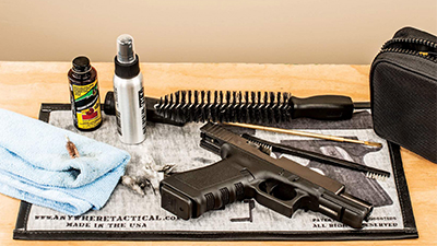 how to clean a pistol, how to clean a glock, how to lube a gun, how to lube a pistol