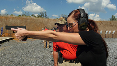 women's pistol class, women's intermediate handgun class